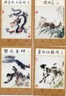Zodiaque Chinois - Pochette Contenat 8 Cartes- Chevre, Cochon, Serpent, Rat, Chien, Dragon, Singe, Veau - Astronomia