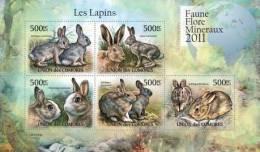 cm11124a Comores 2011 Rabbits s/s
