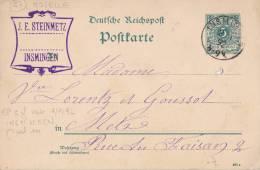 LORRAINE ALLEMANDE   MOSELLE INSMINGEN  INDICE 7 - Alsace-Lorraine