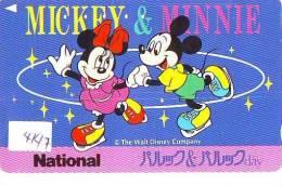 Télécarte DISNEY Japon (4147) Phonecard Japan * SKATING * SCHAATSEN * MICKEY & MINNIE - Disney