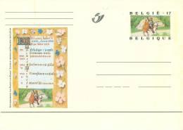 CARTE POSTALE BELGE Pré-timbrée Vierge Avec Illustration (Livre D'heures De Philippe De Clèves) - Zonder Classificatie