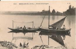 Cpa78 Meulan Pêche à La Ligne - Meulan