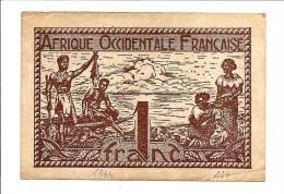 AFRIQUE OCCIDENTALE FRANCAISE BILLET 1 FRANC ILLUSTRÉ PÉCHEURS SÉPIA (1944) - Altri – Africa