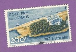 COLONIES FRANCAISES COTE DES SOMALIS POSTE AERIENNE TIMBRE N° 22 OBLITERE PALAIS DU GOUVERNEUR DE DJIBOUTI - Sin Clasificación