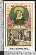 Xsa-95-29 S. Santa ROSA DA VITERBO L'EDUCAZIONE CRISTIANA DATA DAI GENITORI Santino Holy Card - Religión & Esoterismo