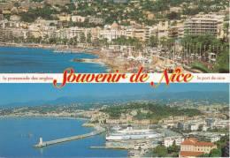 Nice La Promenade Des Anglais Et Le Port Exc : N° 225 - Nizza