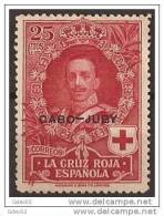 CJ32-A032TAN. Marruecos .Maroc.Marocco.CABO JUBY ESPAÑOL CRUZ ROJA 1926  (Ed 32**) Sin Charnela LUJO - 1889-1931 Royaume: Alphonse XIII