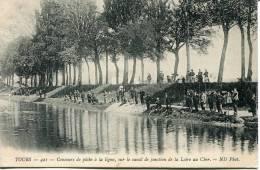 37 - CPA      -- Concours De Pêche à La Ligne, Sur Le Canal De La Loire Au Cher - Tours