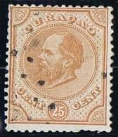 Koning Willem III  25 Cent  7A - Curaçao, Nederlandse Antillen, Aruba