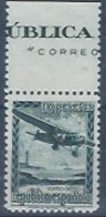 ESNE38-L1578TA.Espagne .Spain.AVION  EN VUELO.1939.(Ed N.E.38**) VARIEDAD  BORDE DE HOJA.sin Charnela.LUJO - Nuevos & Fijasellos