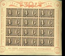 1943  Grand Bloc Centenaire  Neuf Un Peu Jauni - Blocks & Sheetlets & Panes