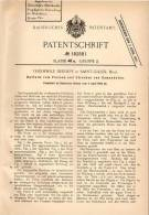 Original Patentschrift - T. Dekimpe In Saint-Gilles , 1905 , Hutform Zum Pressen , Frauenhut , Damenhut !!! - Coiffes, Chapeaux, Bonnets