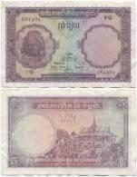 Cambodia 5 Riel 1955 P-2 (584401) - Cambodia