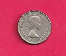 CANADA 1956, Circulated Coin, XF, 5 Cent QE II  Nickel , Km 50a, C90.030 - Canada