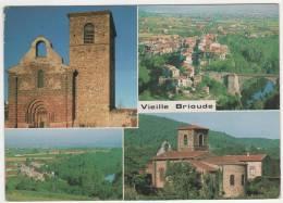 CP MULTIVUES VIEILLE BRIOUDE, VUE GENERALE, PONT, FACADE EGLISE ROMANE, VILLAGE VACANCES, HAUTE LOIRE 43 - Brioude