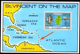 St Vincent - $2 - Map Mini Sheet - SG655 - MNH - St.Vincent (1979-...)