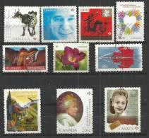 TEN AT A TIME - CANADA 2012 - LOT OF 10 DIFFERENT - USED OBLITERE GESTEMPELT USADO - 1952-.... Règne D'Elizabeth II