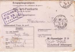 GUERRE 39-45- CORRESPONDANCE DE PRISONNIERS DE GUERRE DE MARTIGUES POUR LE  STALAG IID LE 1-6-1942. - Marcophilie (Lettres)
