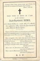 Jean-Baptiste DEMOL - Né à Saint-Gilles - 7 Août 1865 Et Y Décédé Le 3 Septembre 1883 - Devotion Images