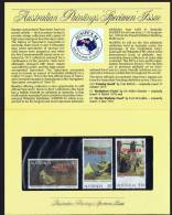 3 Dollar Values Ausralian Paintings «SPECIMEN» Issue In Original Australia Post Folder  MNH ** - 1980-89 Elizabeth II
