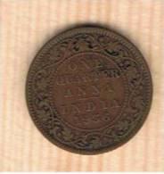 INDIA  BRITANICA  1/4  Anna  1936  KM512 - India