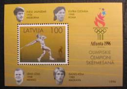 LETONIA 1996 LATVIA - JJOO DE ATLANTA 96 - YVERT BLOCK 8 - Zomer 1996: Atlanta
