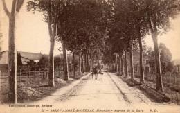 Saint Andre De Cubzac Avenue De La Gare Old Postcard