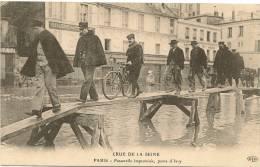 PARIS 13 - Passerelle Improvisée, Porte D'Ivry  (crue De La Seine 1910)   --ELD - Distretto: 13