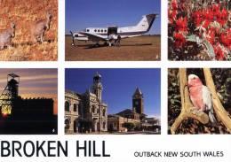 (660) Australia - NSW - Broken Hill And Flying Doctor Plane - Mining - Kangaroo - - Broken Hill