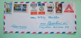 USA 1970 Aerogramme Santa Monica To Germany - Space - Christmas - Plane - Military Honour - Ship - Label - United States