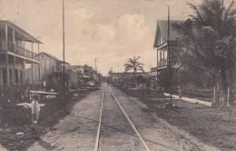Postcard Trainway, Puerto Cortes 1900-1910( Postally Not Used) - Honduras