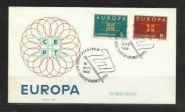 TOP!! LUXEMBURG * ERSTTAGSBRIEF 1963  **!! - Europa-CEPT