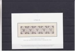 Allemagne - Lübeck - Reproduction De 1984 ** - MNH - Avec Sceau à Sec - Luebeck