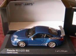 PORSCHE 911 997 MKII GT3 RS 2010 AQUABLAU METALLIC MINICHAMPS 400069101 1/43 - Minichamps