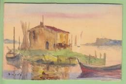 OLIVE DES MARTIGUES, Henri Tamari OLIVE : Aquarelle Sur Carton, 1915. Format 9 X 14 Cm - Watercolours