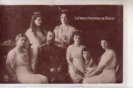 Russie - LA FAMILLE IMPERIALE DE RUSSIE - Portait Prince Assis Princesse Debout Et Ses Enfants : 4 Filles Et 1 Garçon - Personnages Historiques