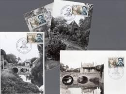 """Lot De 4 CM De 1966 N° YT 1472 """" MARCEL PROUST """". Voir Scan Pour L'état.+ Prix Dégressif. - Cartas Máxima"""