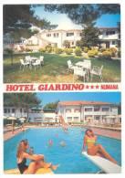 G2261 Numana (Ancona) - Via Circonvallazione - Hotel Giardino - Ragazza Girl Femme Frau Chica / Non Viaggiata - Andere Städte