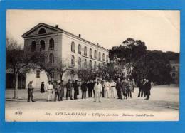 83 SAINT-MANDRIER, L'HÔPITAL MARITIME, BÂTIMENT SAINT-FLAVIEN -animée  Cpa  Année 1912 SCAN R/V - Saint-Mandrier-sur-Mer