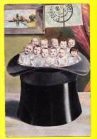* Bébés Multiples - Babies - Baby (Fantaisie - Fantasy) * (Serie 385) Hoed, Chapeau, Hat, Timbre, Enfant, Child, TOP Old - Baby's
