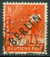 Berlin  1948  Freimarken - Grünaufdruck  (1 Gest. (used))  Mi: 3 (6,00 EUR) - [5] Berlin