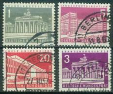 Berlin  1956-63  Freimarken - Berliner Bauten II + IV  (4 Gest. (used))  Mi: 140-41, 146, 231 (1,30 EUR) - [5] Berlin