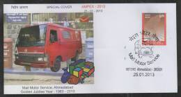 INDIA  2013  Mail Motor Service  Ahmedabad  Special Cover #  45035  Indien Inde - Trucks