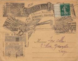 Superbe Enveloppe Timbre Courrier De La Presse Journal Le Figaro Le Peuple - Invoices & Commercial Documents