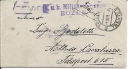 1918 Trento Per Cavalazza - Censura - 8. WW I Occupation