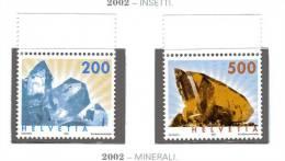 Svizzera ** - 2002 - Minerali.   Unif. 1736/37 - Switzerland