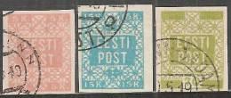 Estonia 1918 Usato - Mi. 1B; 2B; 4 - Estonia
