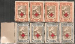 Estonia 1921 Nuovo** - Mi. 29A/30A Strisce 4x - Estonia