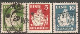 Estonia 1933 Usato - Mi. 99/101 - Estonia