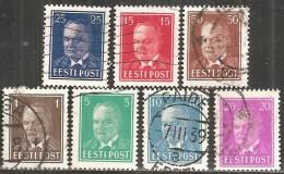 Estonia 1936 Usato - Mi. 113; 115; 117/9; 125; 133  7v. - Estonia